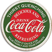 Thirst Quenching Coca Cola Tin Sign