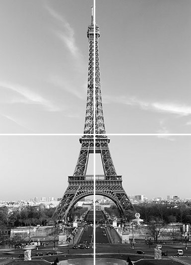 New the eiffel tower parisian icon wall mural clearance for Eiffel tower wall mural black and white