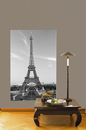 New the eiffel tower parisian icon wall mural clearance for Eiffel tower wall mural ikea