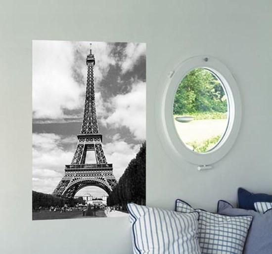 Henri silberman la tour eiffel photography mini wall mural for Eiffel tower wall mural black and white