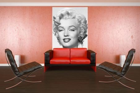 New marilyn monroe 4 sheet celebrity wall mural wall mural for Celebrity mural