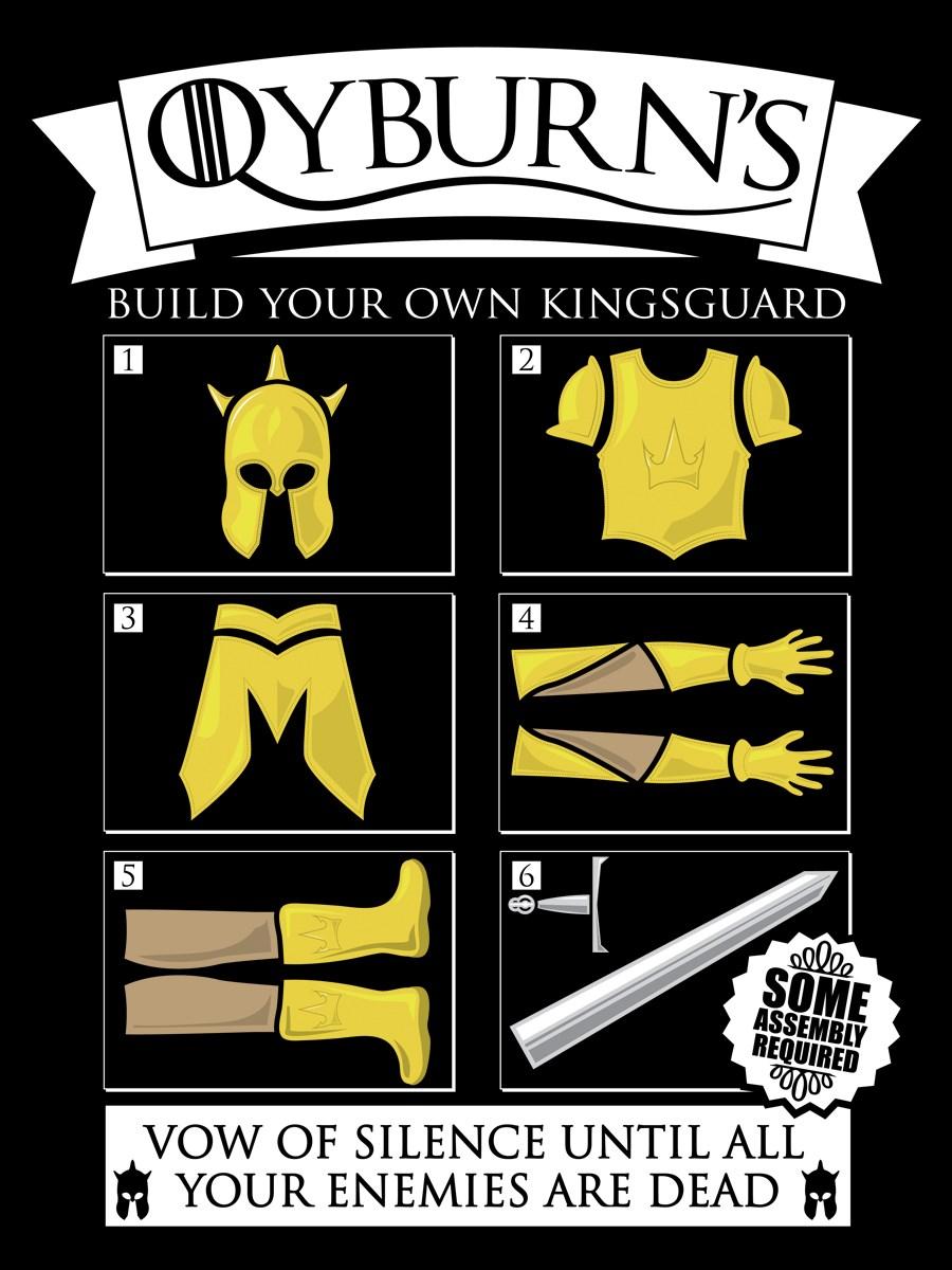 Design your own t shirt ebay - Qyburns Build Your Own Kingsguard Men S Black T Shirt Ebay Qyburns Build Your Own Kingsguard Men 039 S Black T Shirt Ebay