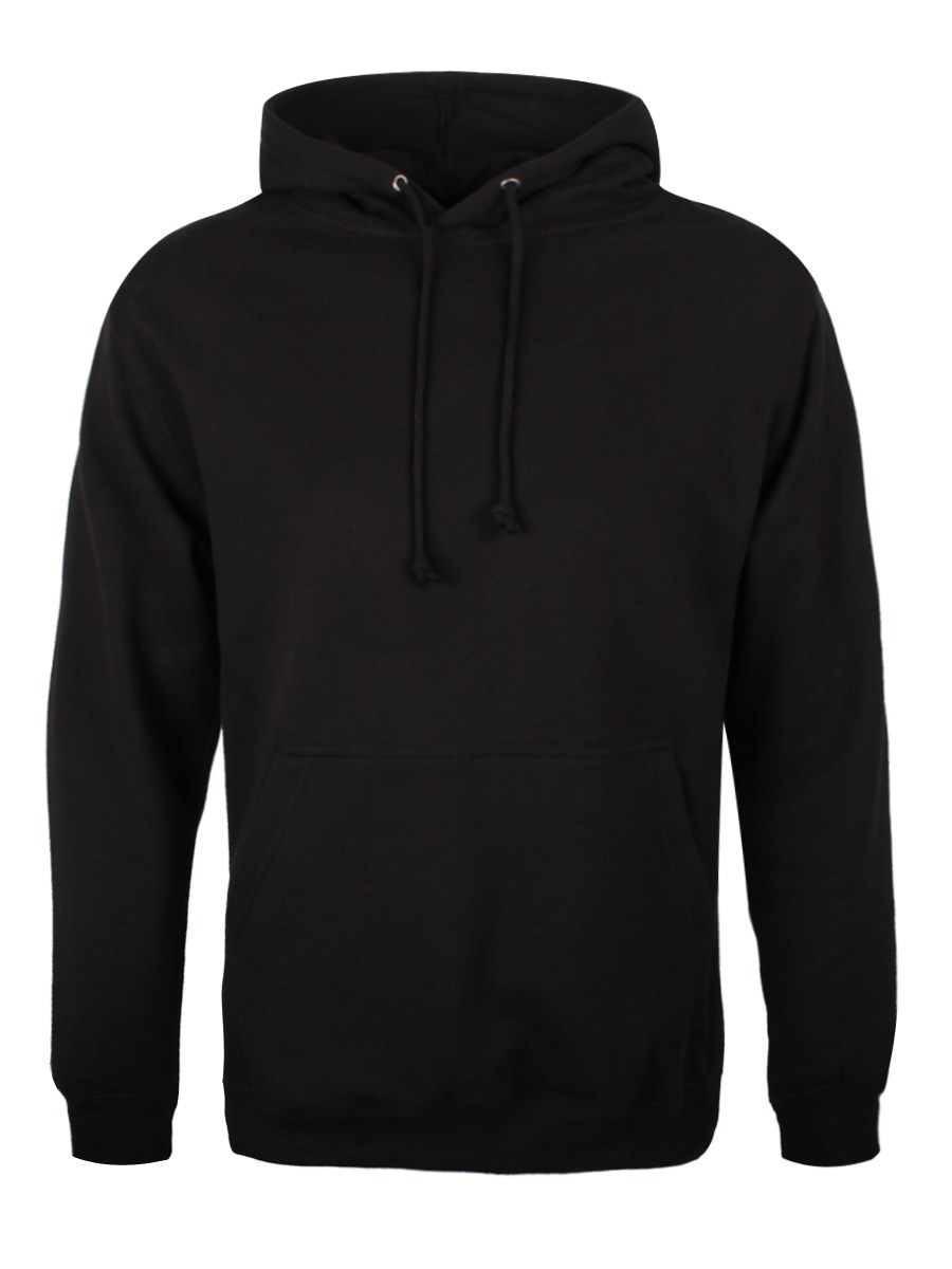 New Plain Hoodie - Black Pullover Mens