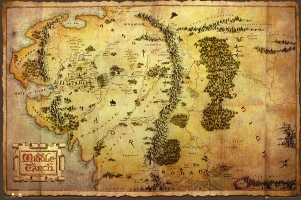 New-The-Hobbit-And-The-Lord-Of-The-Rings-Map-Of-Middle-Earth-Poster