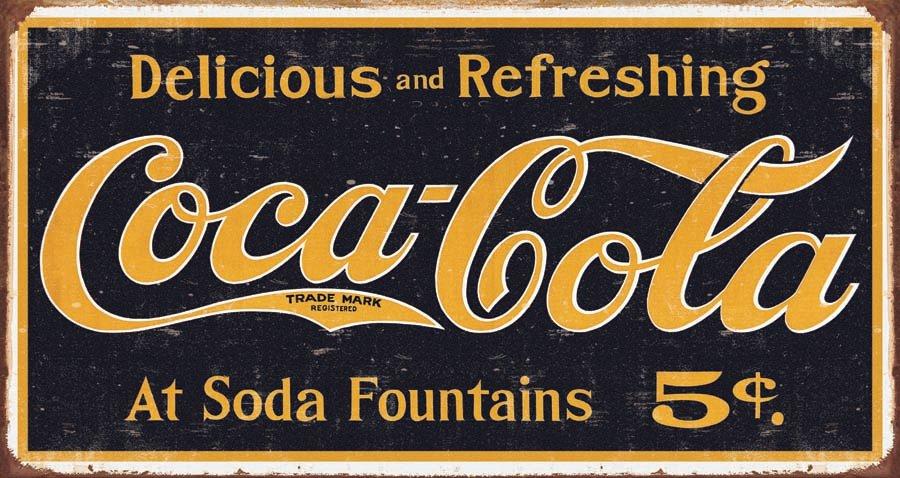 New-Coca-Cola-Logo-Vintage-Advertisement-Coke-Metal-Tin-Sign