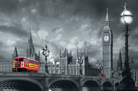 Bus on Westminster Bridge - Urban Photography