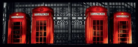 Lonely Red Telephone Boxes - Stephane Rey Gorrez
