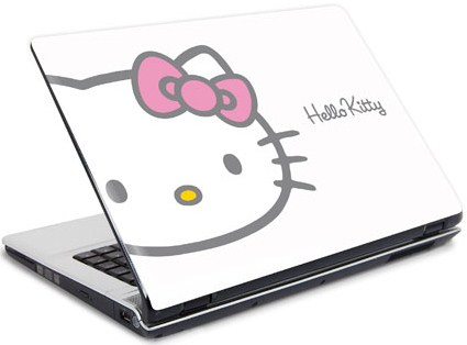 This adorable Hello Kitty laptop sticker is made from hard wearing,