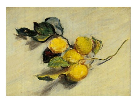 A Lemon Branch - Claude Monet