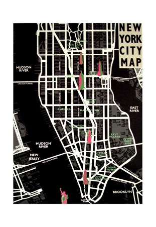 New York City Map - Tom Fraizer