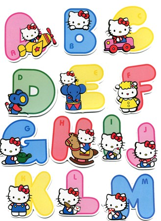 Cute Hello Kitty 3D Alphabet Stickers - Hello Kitty