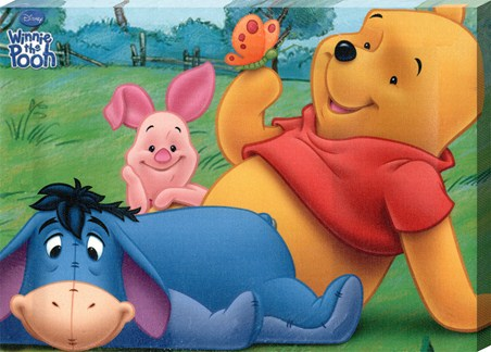 Pooh, Piglet and Eeyore Having Fun!