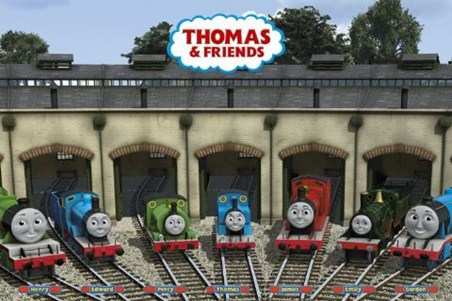 Safe and Snug in their Sidings - Thomas the Tank Engine and Friends