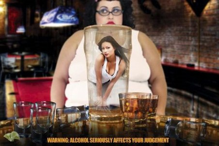 Alcohol Seriously Affects Your Judgement! - Warning Sign