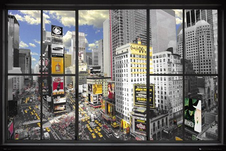 View of The Big Apple - New York Window