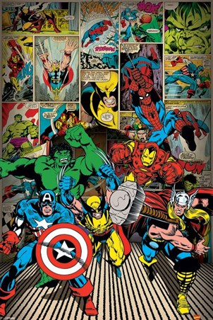 Here Come The Heroes - Marvel Comics