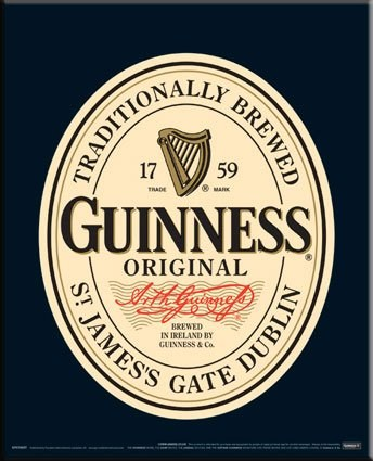 Traditionally Brewed - Original Guinness Label