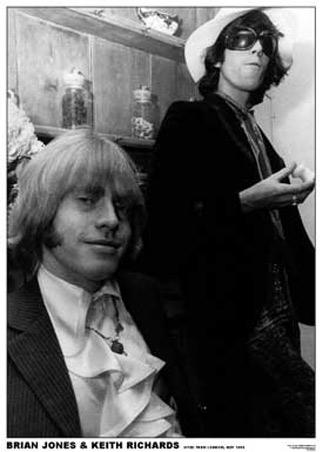 40 años sin Brian Lgart018+brian-jones-keith-richards-london-1967-the-rolling-stones-poster