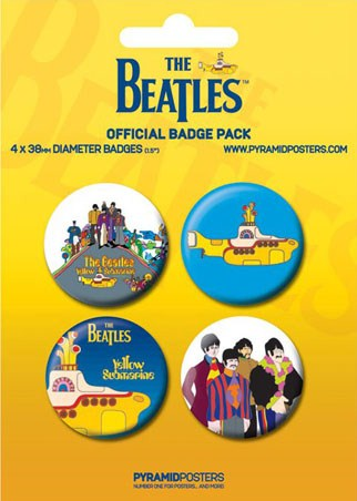 The Beatles: Yellow Submarine - The Beatles Button Badge Pack