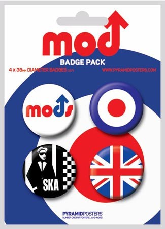 The Mods - Brit Badges - Mods Button Badge Pack