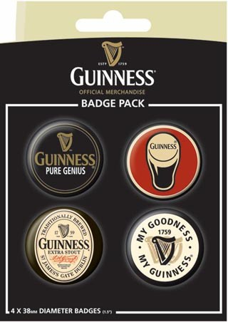 Guinness, Pure Genius - Official Guinness Button Badge Pack