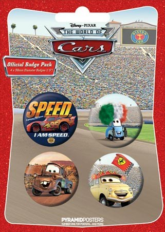 "Mater and Friends - Cars: The Movie. 10.5cm x 14.5cm (4"" x 6"") Badge Pack"