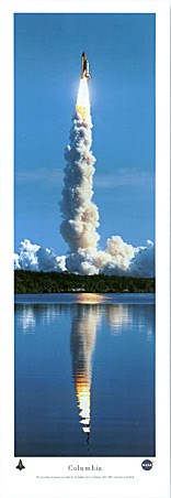 Space shuttle Columbia Lift Off - By Christopher Gjevre