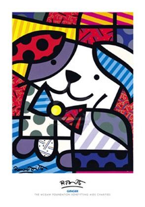 Ginger, Romero Britto Print: 100cm x 70cm - Buy Online