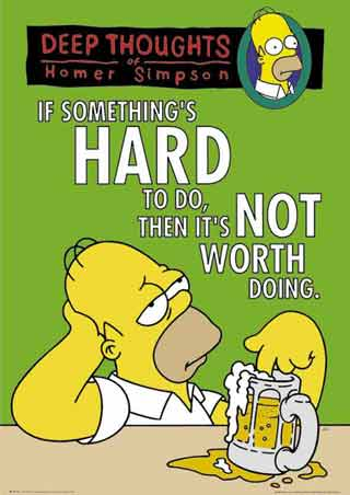 Deep Thoughts by Homer Simpson