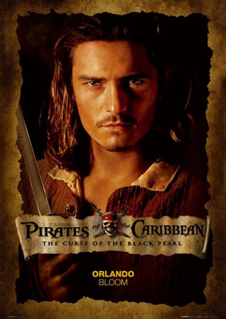 Orlando Bloom Close Up - Pirates of the Caribbean