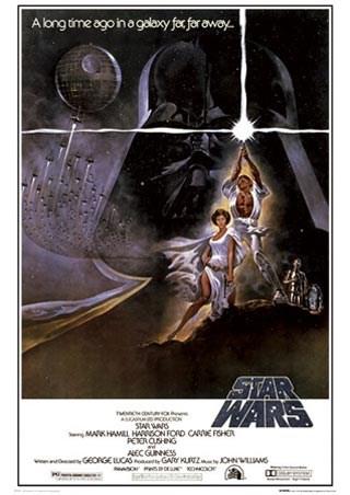 A New Hope Original Movie Score, Star Wars Episode IV Poster: 90cm x 64cm