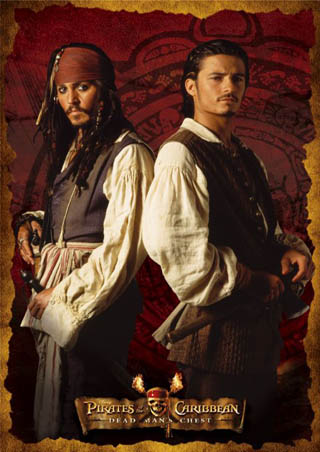 Captain Jack Sparrow and Will Turner - Pirates of the Caribbean 2