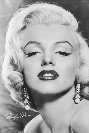 "Love - Black and White - Marilyn Monroe. 61cm x 91.5cm (24"" x 36"") Poster"