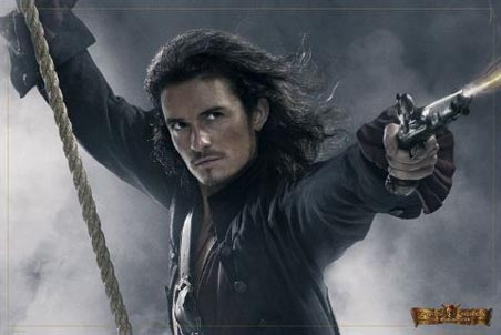 Orlando Bloom free stock images is Will Turner, Poster