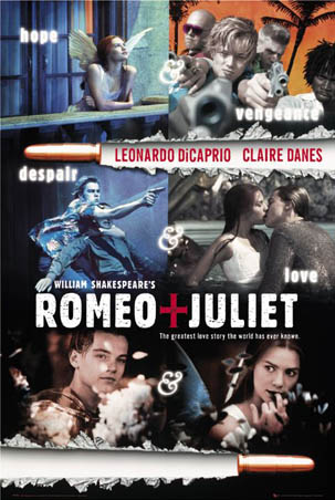 claire danes and leonardo dicaprio romeo and juliet. Romeo + Juliet is a 1996