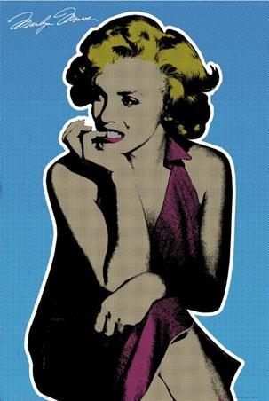 solarised pop art marilyn