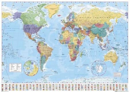 World Map For Kids - World map with capitals