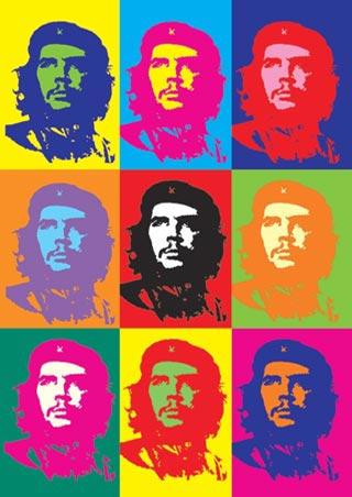 Pop Art - Andy Warhol - Che Guevara, Montage