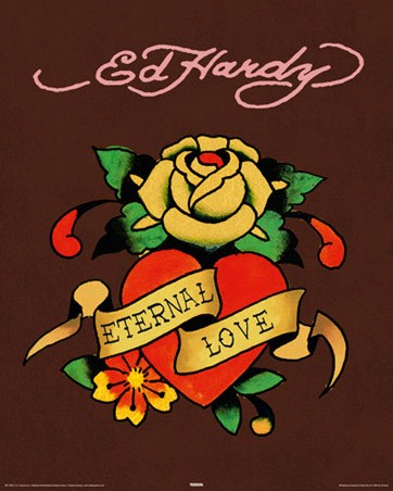 "Eternal Love - By Ed Hardy. 40cm x 50cm (16"" x 20"") Mini Poster"