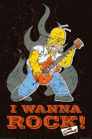Grand Funk Railroad Lghr16694+i-wanna-rock-homer-simpson-poster