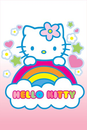"Over the Rainbow - Hello Kitty. 61cm x 91.5cm (24"" x 36"") Poster"