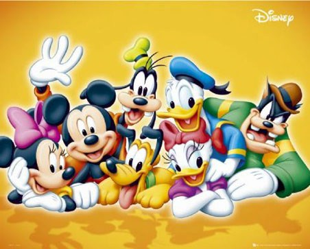 Classic Disney Characters - Mickey Mouse, Donald Duck and Friends