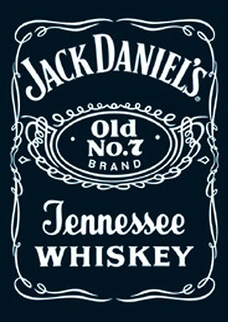 Jack Daniels Logo Wallpaper Licensed Postcard Ideal For