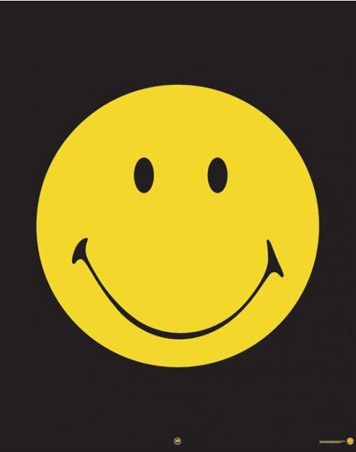 smiley face cartoon pictures. Smiley Face Mini Poster: