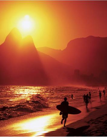 "Ipanema Beach - Rio de Janeiro, Brazil. 40cm x 50cm (16"" x 20"") Mini Poster"