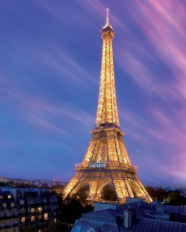 Eiffel Tower Paris Pictures Night on Illuminated Eiffel Tower  Paris At Night Poster  50cm X 40cm   Buy