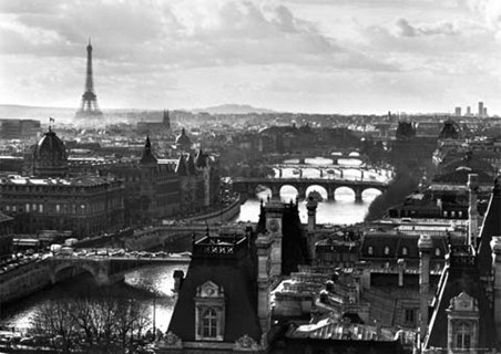 Black and White Landscape - Paris, France