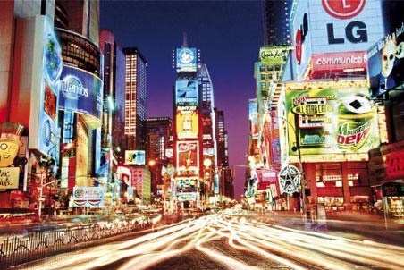 Colourful Night Life in Times Square - Times Square, New York City, USA