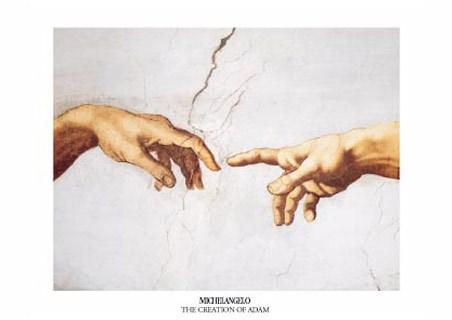 Michelangelo Sistine Chapel Hands
