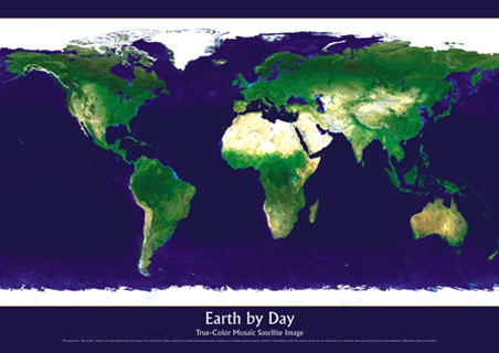 earth day posters images. Planet Earth by Day Poster,